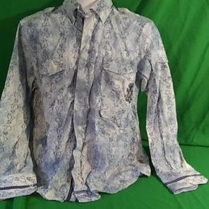 English laundry NWOT blue long sleeve button down